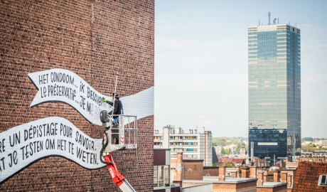 Denis Meyers & Arnaud Kool - Mural against AIDs in Brussels