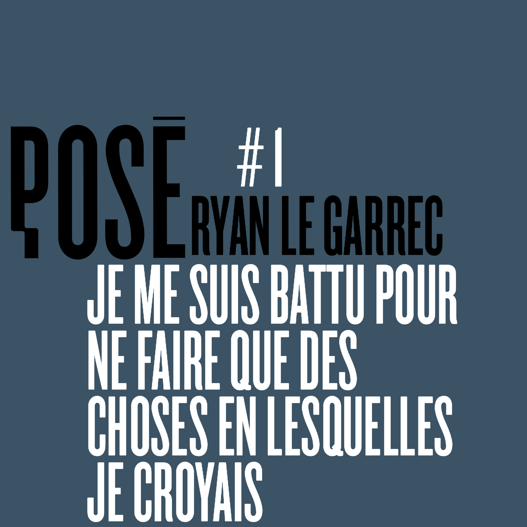 Pose cover Ryan Le Garrec