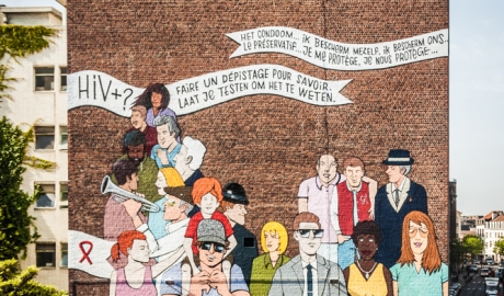 Denis Meyers & Arnaud Kool - Mural against AIDs in Brussels