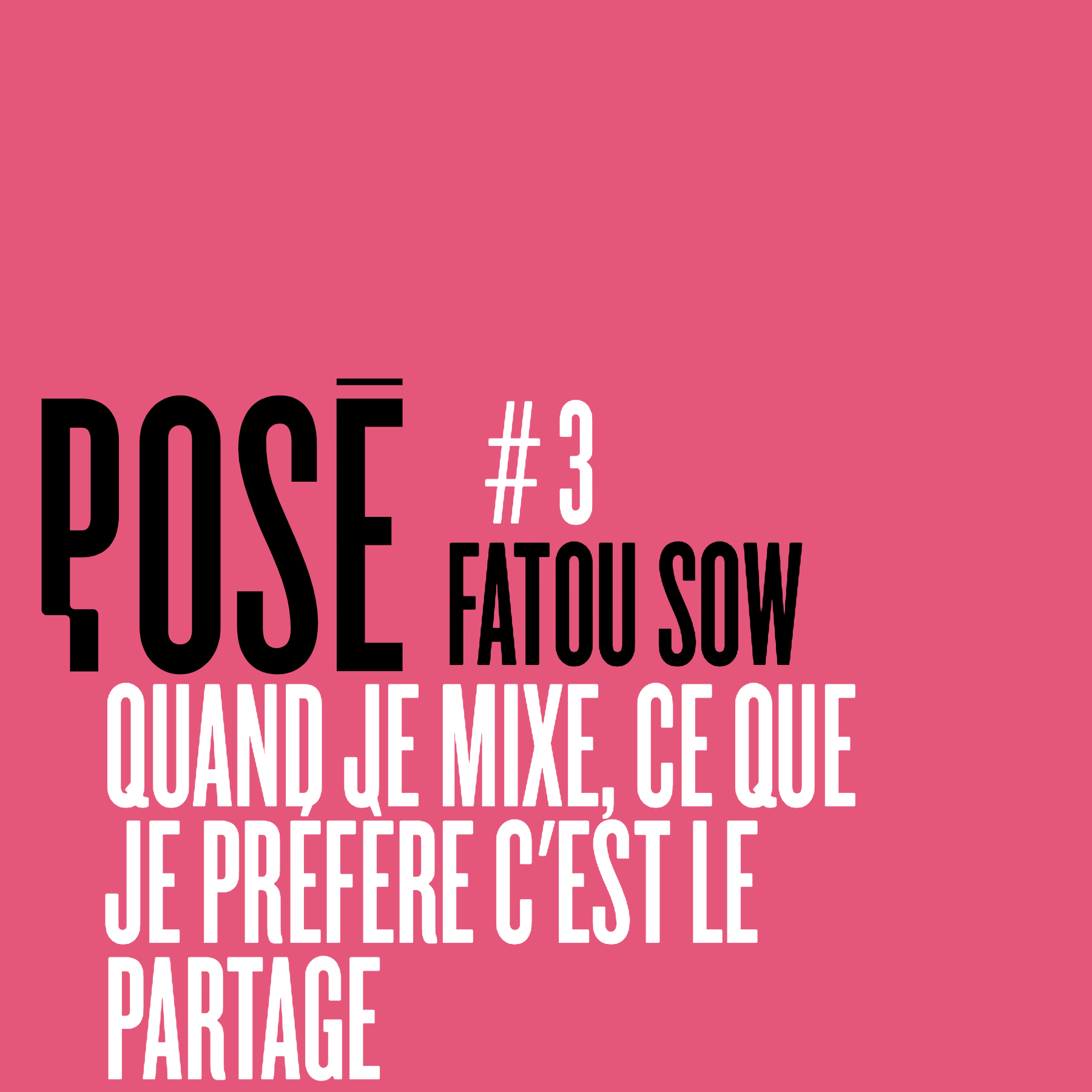 Pose cover Fatou sow